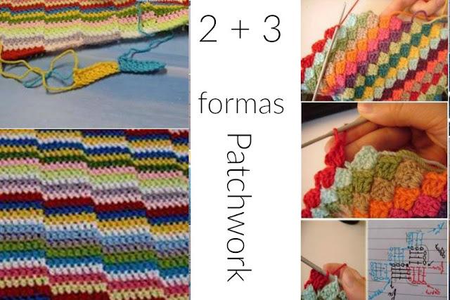 Patchwork crochet con restos de lanas