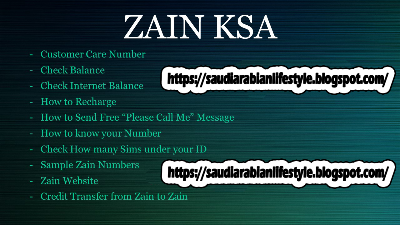 ZAIN MOBILE NETWORK KSA - Saudi Arabian Life Style