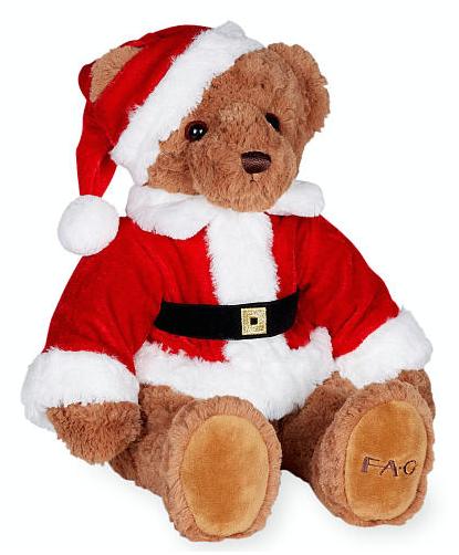 Satchel fao schwarz santa claus teddy bear
