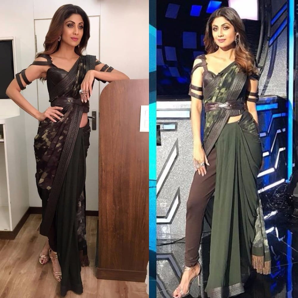 Fashion week How to saree wear with pants for woman