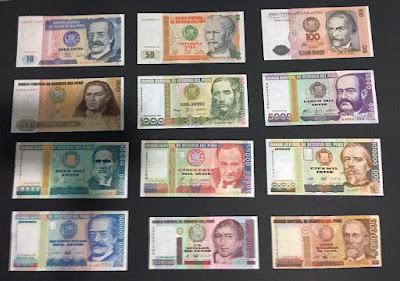 Billetes Intis Peru