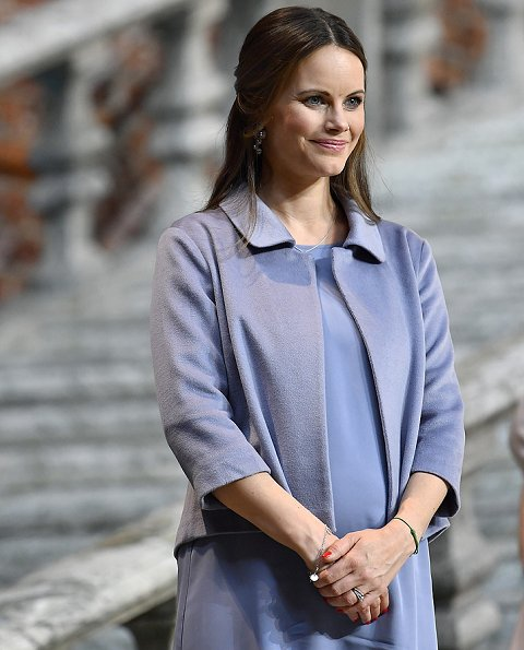 Pregnant Princess Sofia Hellqvist Style. Princess Sofia Hellqvist attended the Sophiahemmet's 2017 graduation ceremony at Stockholm City Hall