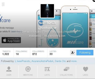 Twitter Pak Santosa, CEO Asuransi Astra