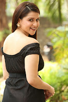 Mannara Chopra in Short Off Shoulder Black Dress ~  Exclusive 042.JPG