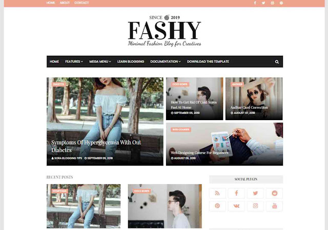 Fashy Blogger Template, Blogger Templates, Blogger Theme, Templates, Blogspot theme, templates go, way2theme, responsive seo template