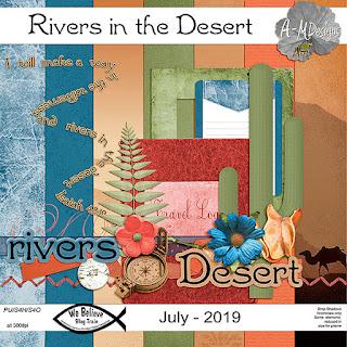 We Believe Blog Train - July 2019 - Rivers in the Desert