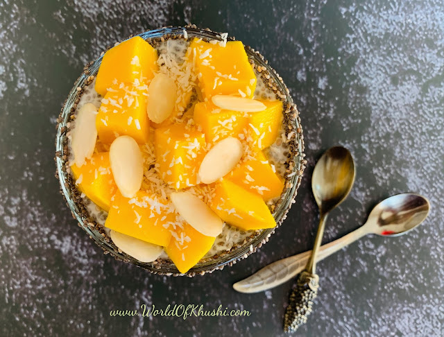 AlmondMangoChiaSeedsPudding_KhushiWorld