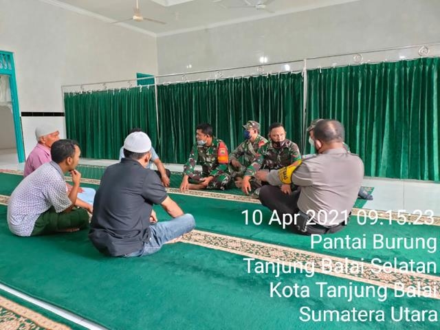 Komunikasi Sosail Bersama Pengurus Masjid Dilaksanakan Personel Jajaran Kodim 0208/Asahan Diwilayah Binaan