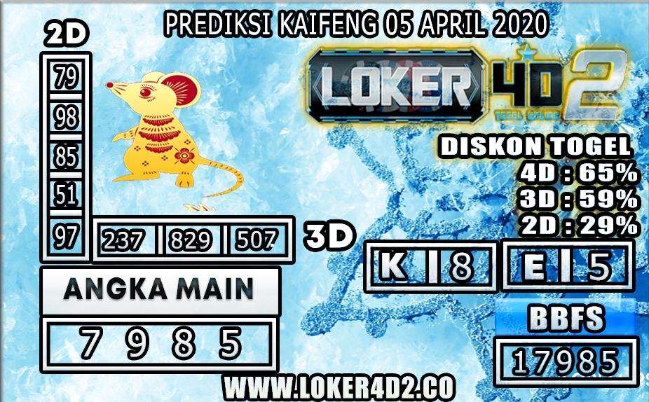 PREDIKSI TOGEL KAIFENG LOKER4D2 05 APRIL 2020