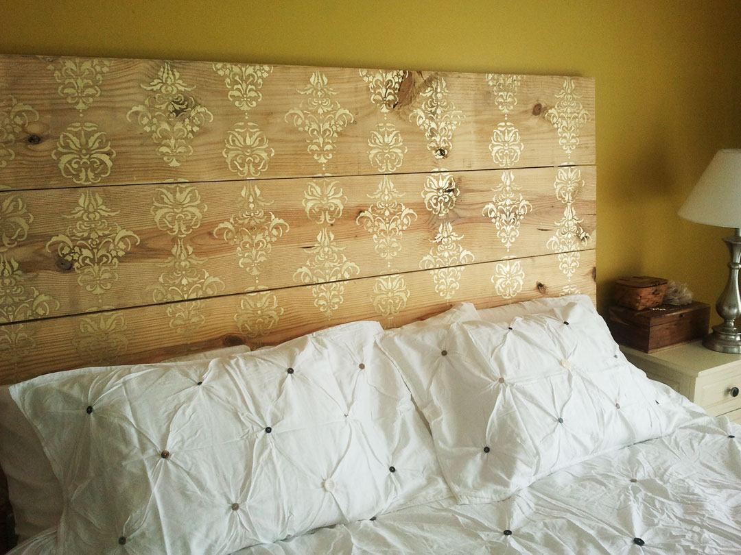 Color Me Home by RepcoLite: Easy DIY Stenciled Headboards