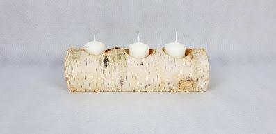 świecznik brzozowy wypożyczalnia dekoracji rzeszów ślubnażyczenie