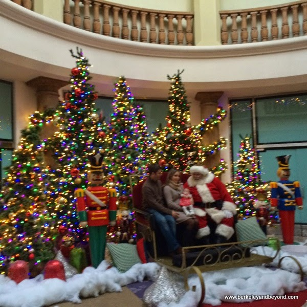 Santa and Christmas display at Blackhawk Plaza in Danville, California