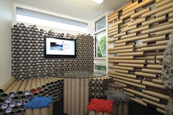 ανακυκλώσιμη αρχιτεκτονική, κτίρια από χαρτί, αρχιτεκτονική με χαρτί, κτίρια από χαρτόνι, κτίρια από χάρτινα ρολά, αρχιτεκτονική με ανακυκλώσιμα υλικά,