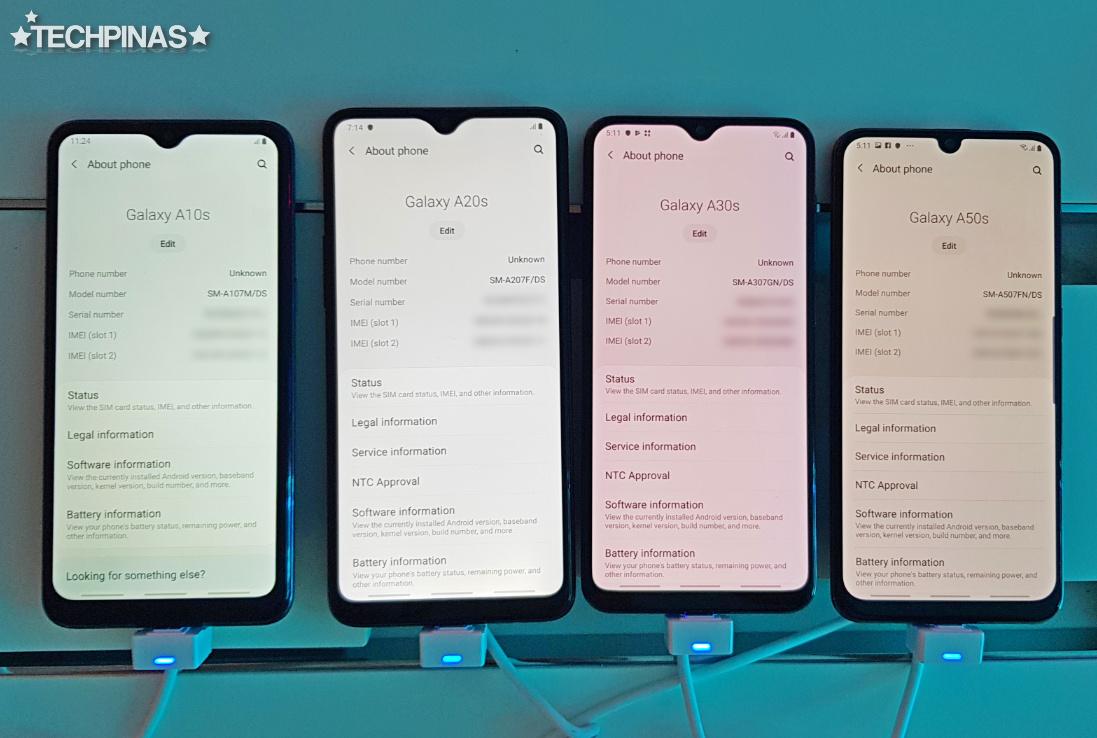 Samsung Galaxy A Series, Samsung Galaxy A10s vs A20s vs A30s vs A50s
