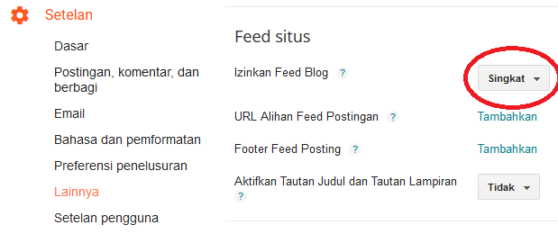 Feed Situs Blogger