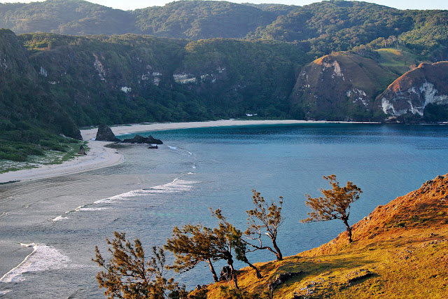 The view of Cibang Cove as seen from Nagudungan Hill in Calayan Island