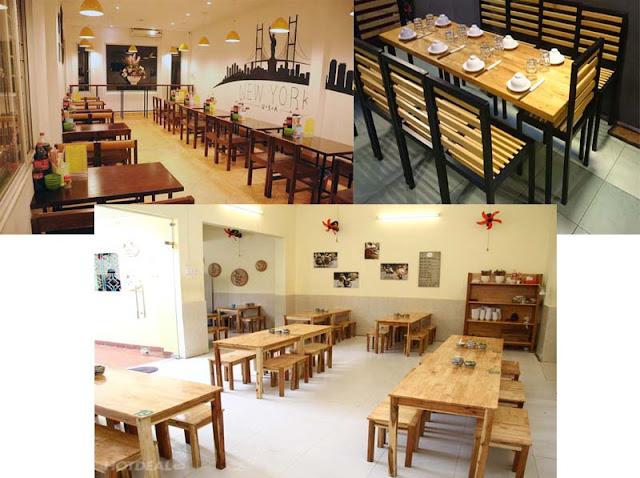 Bộ bàn ghế gỗ nhà hàng, quán ăn