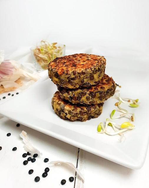 steack végétariens aux lentilles sans gluten au tofu soyeux et farine de lupin