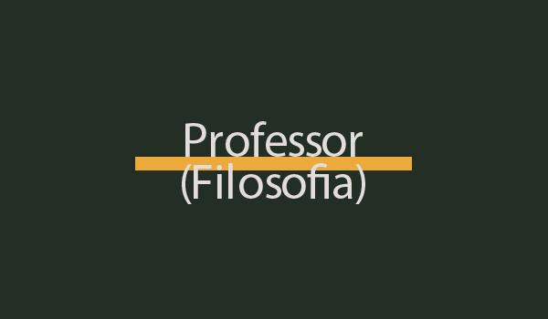 Prova de Concurso para Professor (Filosofia) com Gabarito