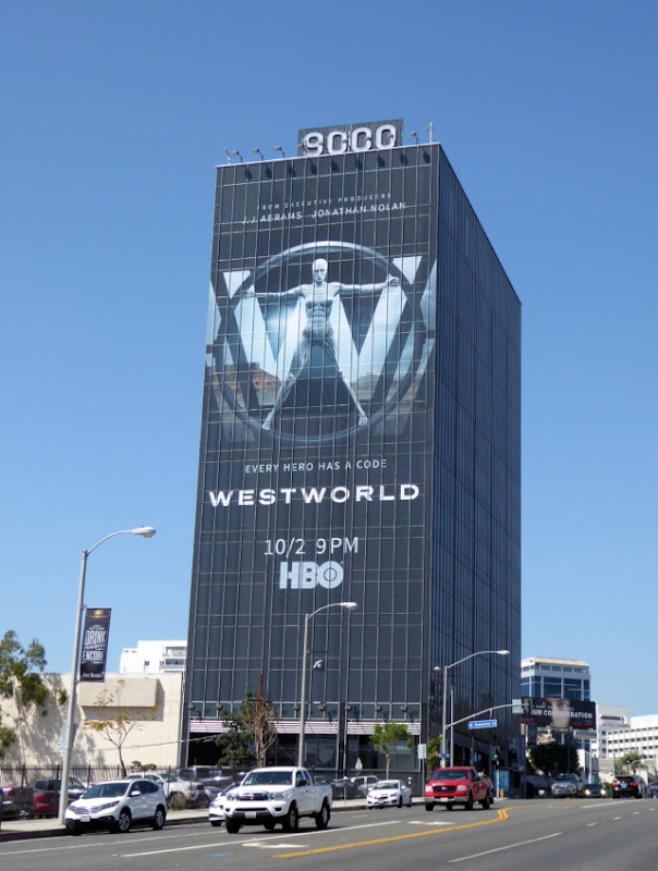 Giant Westworld series launch billboard