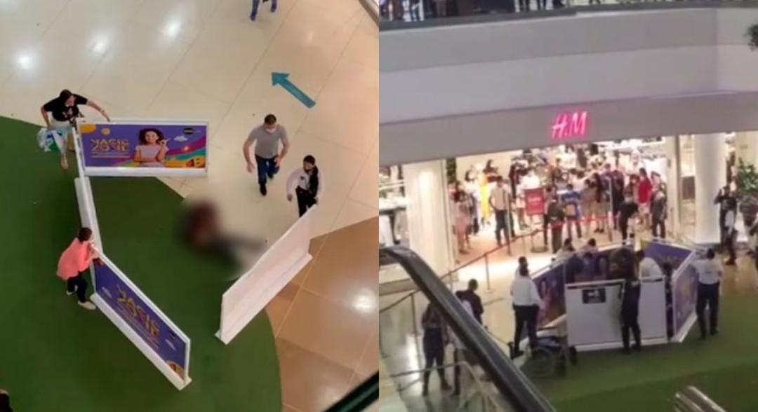 [VIDEO] Joven cayó de cuarto piso en centro comercial de Barranquilla