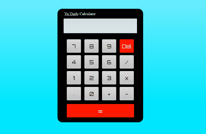 How to make Working Disgital Calculator using HTML CSS & jQuery