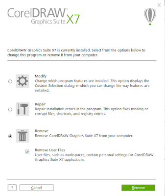 remove corel draw x7