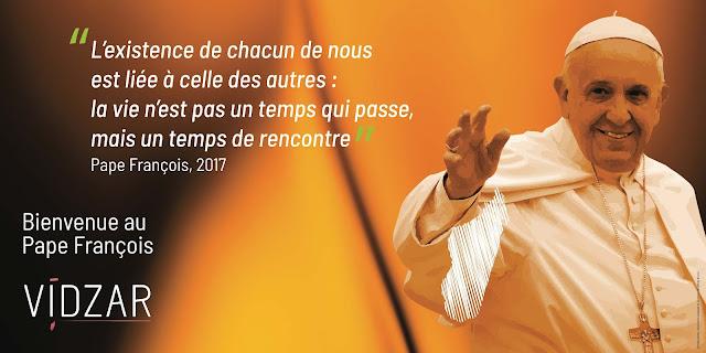 affiche pour la venue du Pape François à Madagascar en 2019