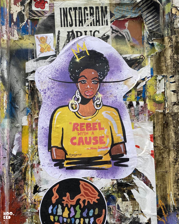 England-London-Shoreditch-Street Art Paste-ups-Seven Star Yard