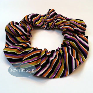 Halloween Dog Scrunchie Ruffle, Diagonal Stripes