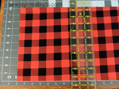cut strip into 10 inch squares