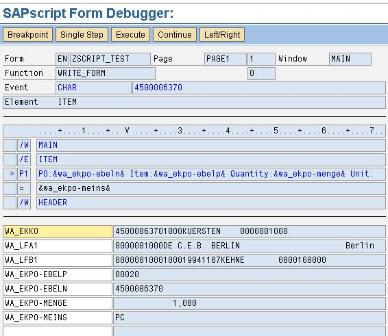 How to Activate Debugger to Debug Sapscript in Different Ways