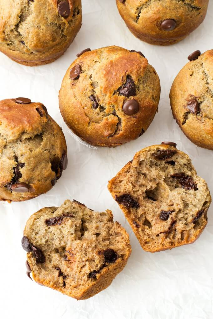 Vegan Muffins with Chocolate Chips