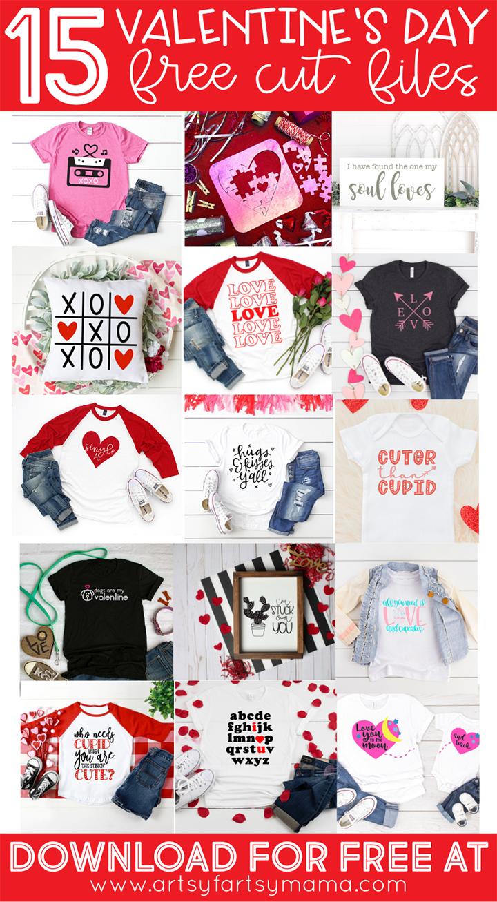 15 Free Valentine Cut Files