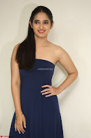Radhika Mehrotra in sleevless Strap less Blue Gown At Prema Entha Madhuram Priyuraalu Antha Katinam Movie Interview ~  Exclusive 061.JPG