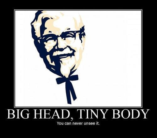 KFC Big Head Tiny Body - Can't Be Unseen