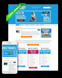 OKEtravel - Blogger template bisnis