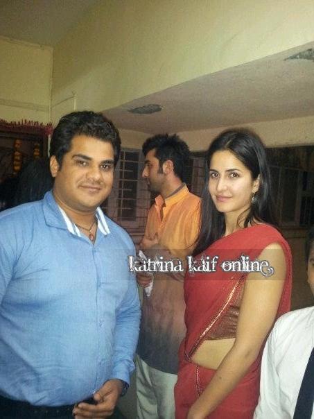 Katrina Kaif and Ranbir Kapoor at a Diwali party
