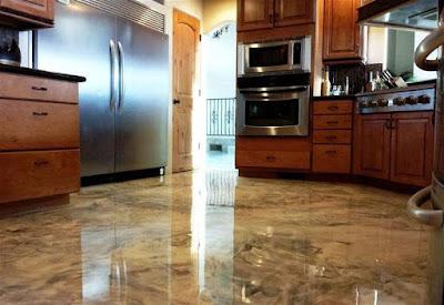 self leveling metallic epoxy flooring designs