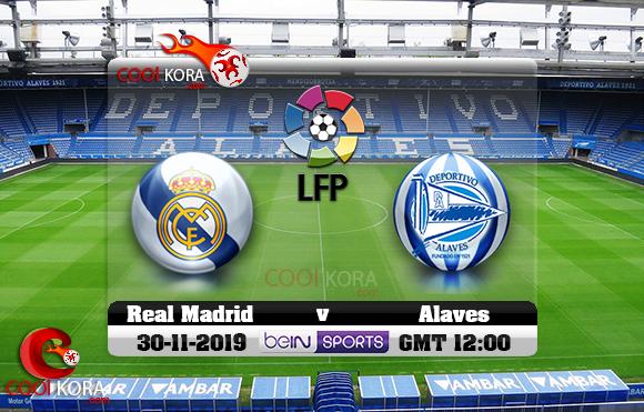 مشاهدة مباراة ديبورتيفو ألافيس وريال مدريد اليوم 30-11-2019 في الدوري الأسباني