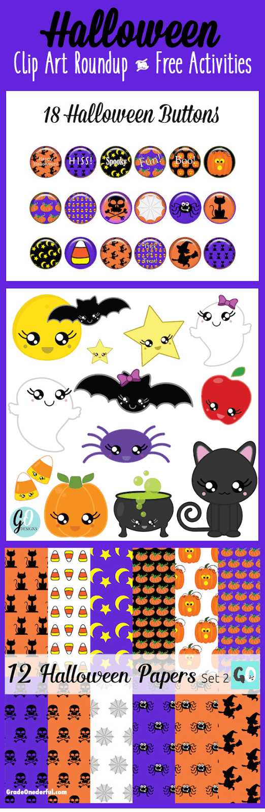 This is a roundup of my Halloween clipart and Halloween digital papers. I also have links to some great FREE games. Enjoy!