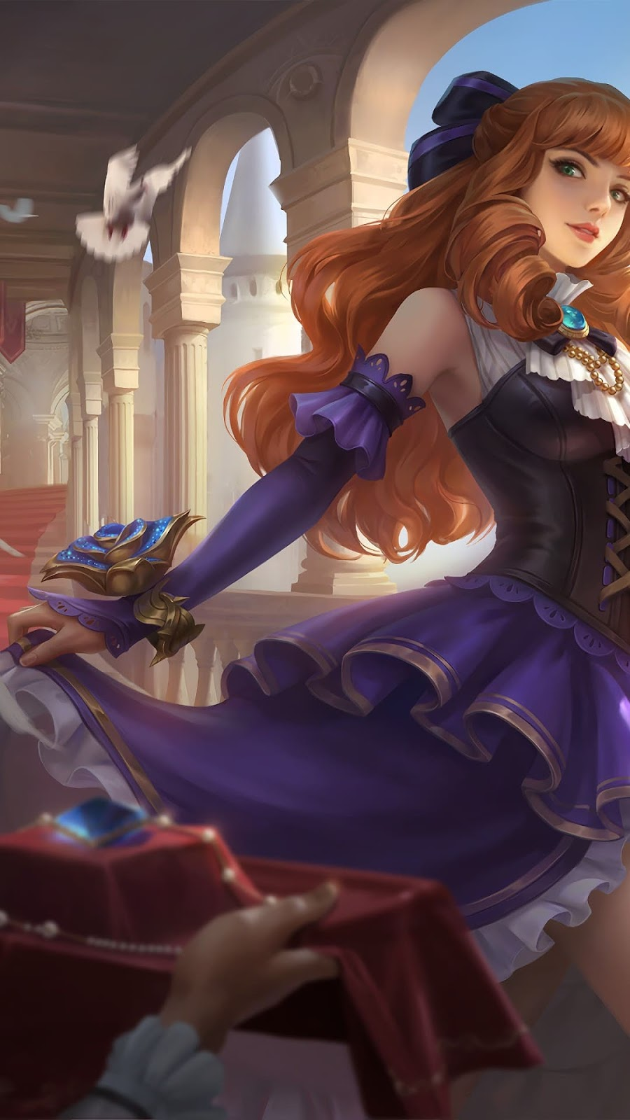 Wallpaper Guinevere Ms. Violet Skin Mobile Legends HD for Android and iOS
