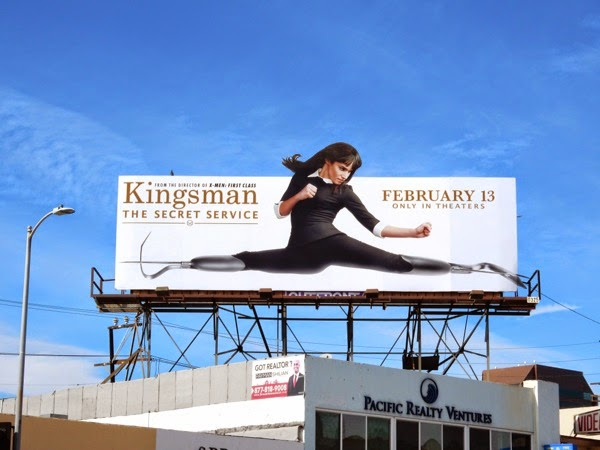 Kingsman Secret Service movie billboard