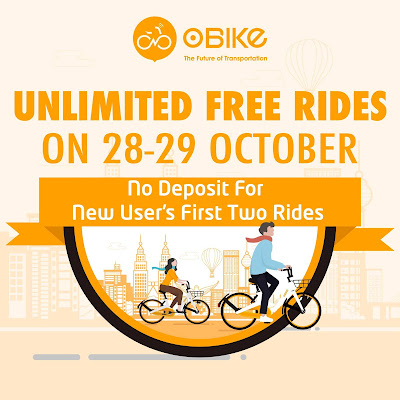 oBike Malaysia Weekend Free Unlimited Free Rides No Deposit