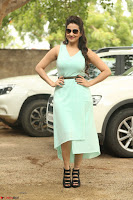 Manjusha in beautiful thin green gown At Jaya Janaki Nayaka le Logo Launch ~  Exclusive 120.JPG