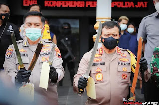 Preman Bawa Samurai Resahkan Kampung Mutihan, 6 Pelaku Diamankan Polresta Surakarta