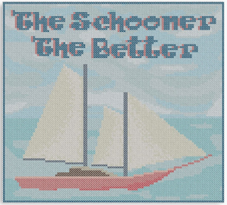 cross stitch style canvas print nautical themed sailing boat for sale on redbubble