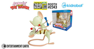 San Diego Comic-Con 2019 Exclusive Pinky and The Brain GID Edition Vinyl Figure by Kidrobot x Entertainment Earth