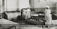 Prisoners working in the kitchen, Female Division, Boggo Road Gaol, Brisbane, 1903.