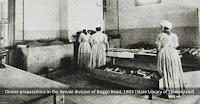 Prisoners working in the kitchen, Female Division, Boggo Road Gaol, Brisbane, 1903.